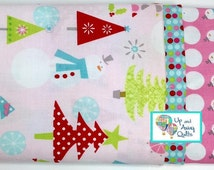 Pillowcase Kit - Pink Snowmen Home for the Holidays