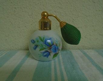 Vintage Perfume Bottle /  Limoge Hand Painted / Adomizer / French / Floral / Porcelain!