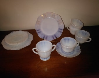 Beautiful Monox Depression Glass Dishes American Sweetheart Pattern - Depression Era Dishes