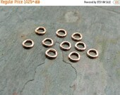 Memorial Day Sale pkg of 10 - Solid Pure Copper 5.5mm 18ga Open Jump Rings