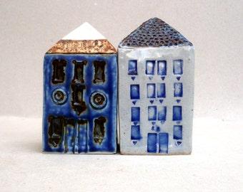 Ceramic House, Ceramic Sculpture, Blue And White Ceramics