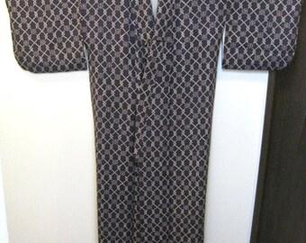 Vintage Kimono,Silk,Purple,No.23