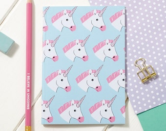 A6 Miss Unicorn Notebook - Notepad - Sketchpad