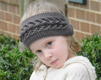 Childs Knitted Headband Pattern : Knitting pattern PDF for a Giant Bow headband Oversized Bow