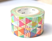 Triangle Washi Tape - MT Colorful Triangles Washi Tape - Japanese Washi Tape - Triangle Masking Tape - 10 meters