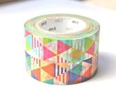 Triangle Washi Tape - MT Colorful Triangles Washi Tape - Japanese Washi Tape - Triangle Masking Tape - 10 meters