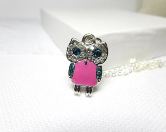 Owl Necklace-  Bird necklace