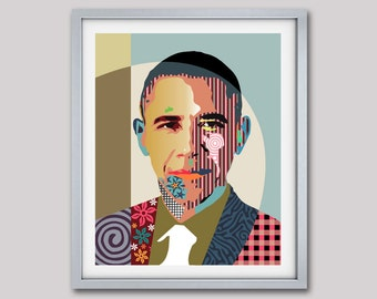 Barack Obama U.S President Pop Art Portrait, Living Room Art Decor, Pop Art Poster, Wall Art Decor
