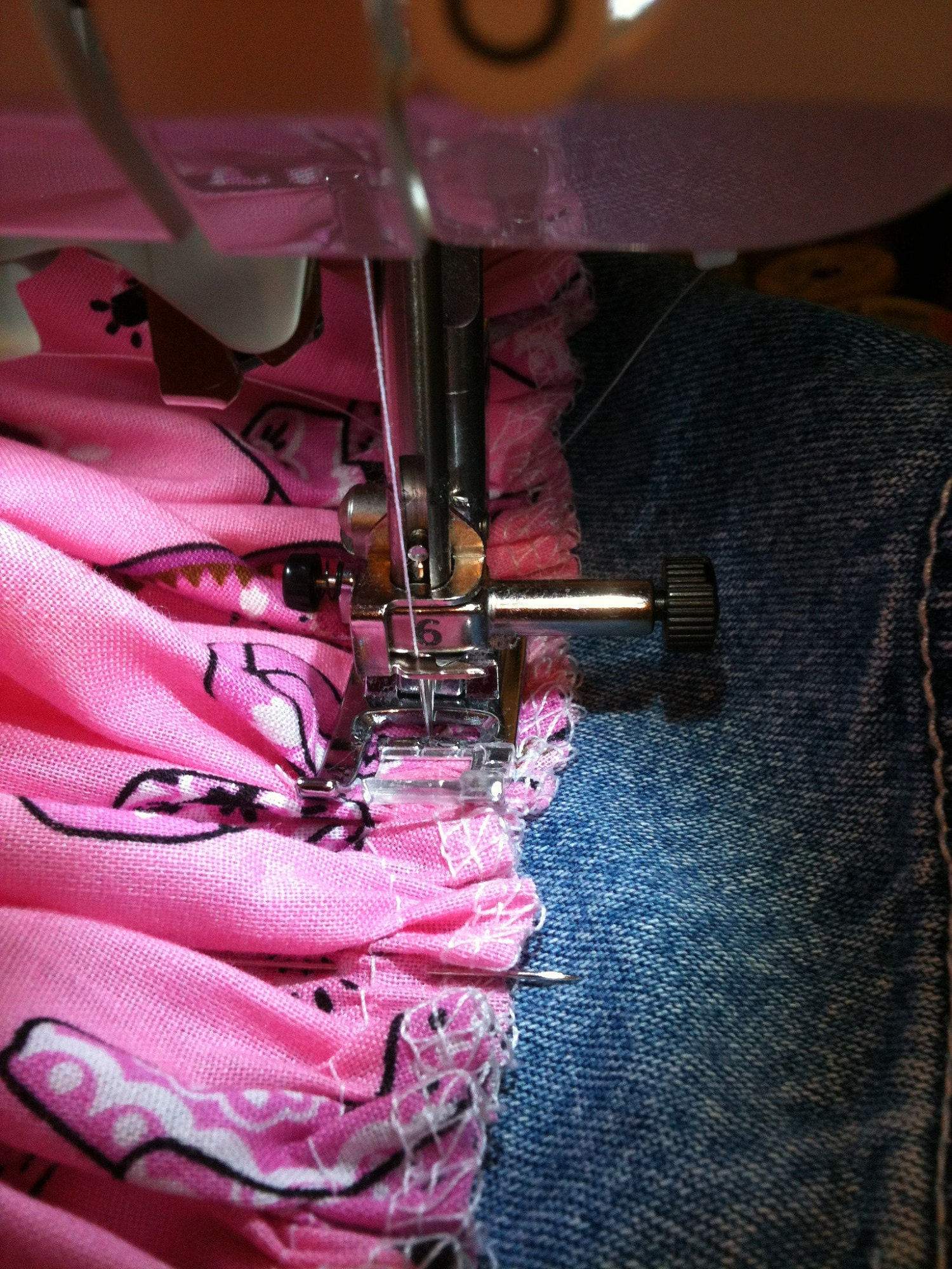 Add the skirt to bib...