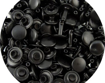 Black Large Double Capped Rivets - 50 Pack #407-137808
