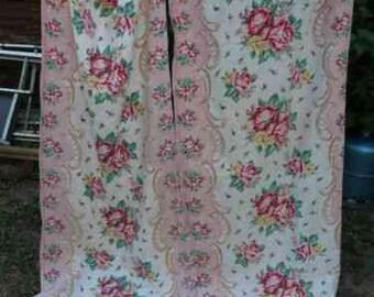 Antique French Curtains Drapes ; Art nouveau