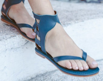 ALEXANDRIA. Gladiator sandals / leather sandals / barefoot sandals / strappy sandals. Sizes 35-43. Available in different leather colors.