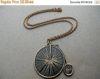 Valentines Day Sale Antique Bicycle Necklace - Hipster Necklace - 18 Inch Bicycle Necklace - Gift Idea