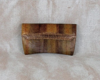 Vintage Snakeskin Clutch, Snakeskin Purse, Snake Skin Purse, Vintage Clutch, Envelope Clutch, High Fashion, Olive, Genuine