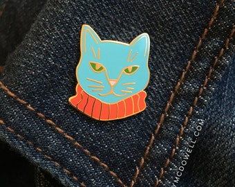 Dapper Cat Enamel Pin by Emily McDowell / No. 400-EP