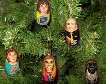 Custom Christmas doll Ornament Personalized Christmas Family portrait