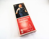 Vintage Westinghouse Flashbulbs - No. 5 Flash Bulbs, New in Box, Set of 8 Bulbs, Vintage Camera Supply, Photography Collector Gift