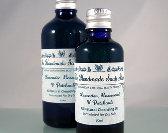 OCM | Lavender, Rosewood & Patchouli All Natural Cleansing Oil with Essential Oils for Dry and Sensitive Skin