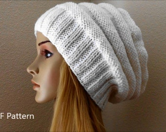 PDF Pattern, How To Knit A Beehive Hat
