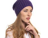 Handknit super soft beanie from luxurious chunky merino wool! Merino Hat Baggy Hat Chunky Knit Beanie Stylish Hat Winte