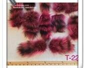 T-22 Genuine lower grade Pink Fur Raccoon TAIL Craft Supply Pelt Remnant