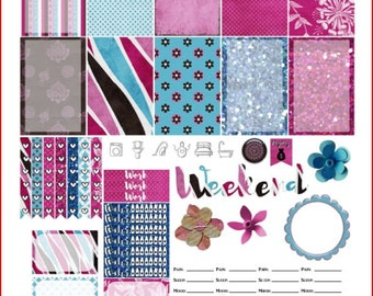 Bohemian Blush Printable Stickers for The Happy Planner