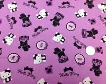 Hello Kitty Ma Cheri Flannel Brushed Cotton Fat Quarter