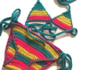 crochet girls bikini