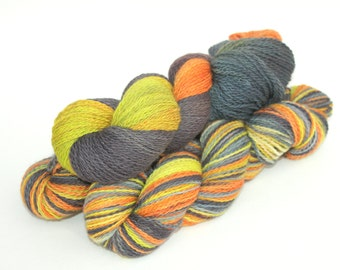 Sale   Hand Dyed / Painted Yarn   SW BFL / Nylon   Candy Corn