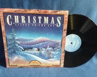 "Vintage, Placido Domingo, The London Symphony Orchestra, The Vienna Boys Choir - ""Christmas Listen To The Joy"" Vinyl LP, Record Album"
