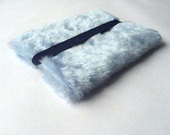 "Faux fur MacBook air 11 inch sleeve, cover, case faux fur, fluffy, macbook sleeve, laptop cover - ""Fluffy"""