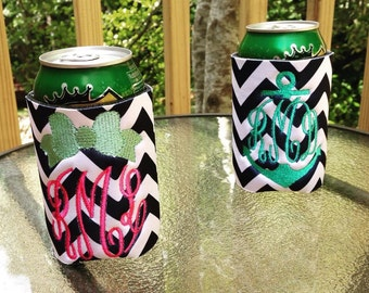 Monogrammed Can Coozies