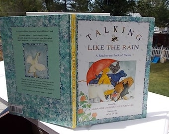 Talking Like The Rain 1992 A Read to Me Book Of Poems /by X J Kennedy, Dorothy M Kennedy/   Not Included in Sale /New listing