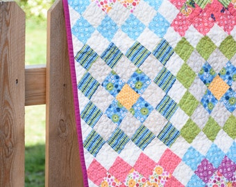 Meadow Bloom Baby Quilt