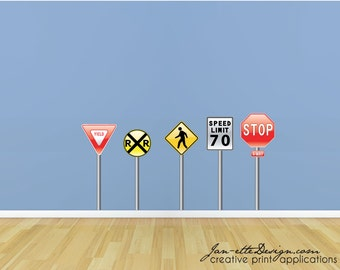 Kids Wall Decals,Street Sign Wall Stickers