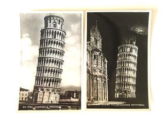 1930s Postcards, Pisa, Italy x 7 - Sepia Photo Postcards, Pisa, Italy, 1930s - Vintage/Antique Postcards