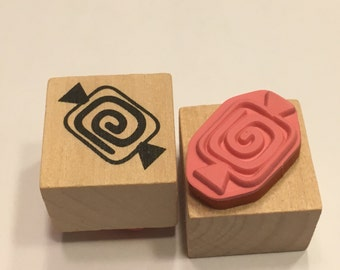 small Candy rubber stamp, 20 mm (B4)