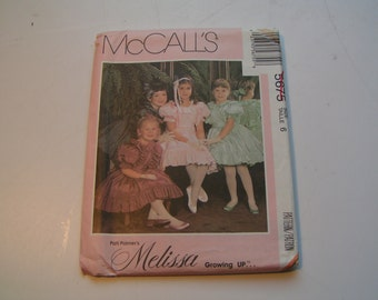 Vintage McCalls Pattern 5675 Pati Palmers Melissa Growing Up Girl Dress Slip and Sash