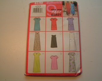 Butterick Pattern 6140 nine sew fast easy Miss Dress