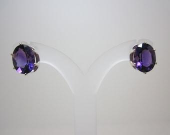 Untreated La Capilla Amethyst Earrings