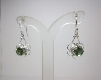 Madagascar Green Apatite Earrings