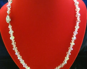 ON SALE Vintage AURORA Borialis Long Necklace Item K-1467