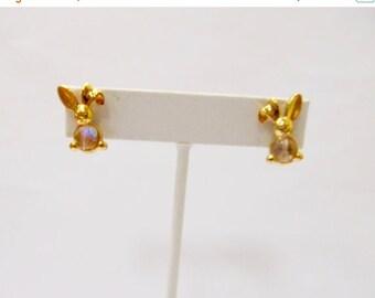 ON SALE Jeweled Bunny Rabbit Earrings Item K # 1170