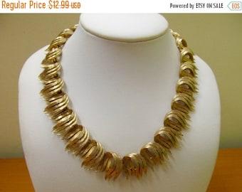 ON SALE LISNER Brushed Gold Tone Necklace Item K # 3067