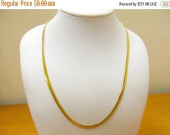 ON SALE MONET Gold Tone Flat Snake Chain Necklace Item K # 3094