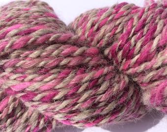 Grey Rose - handspun yarn, merino and alpaca 115g/160m