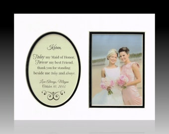 Wedding Maid Matron of Honor Best Friend  Personalized Gift Wedding Favor Bridesmaid Gift