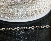 42ft Silver Chain Links-4x3mm- unsoldered