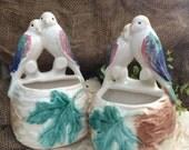 Pair of Love Birds Wall Pockets