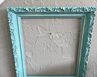 Painted and DistressedTurquoise Frame